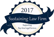 Bay Area Sustaining Law Firm 2017 badge