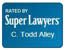 Super Lawyers Badge for C. Todd Alley