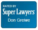 Super Lawyers Badge for Don Greiwe