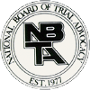 National Board of Trial Advocacy Badge